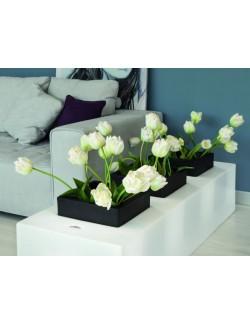 Vaso Triplo Mod. Flores con illuminazione Led - Linea Modum by Telcom