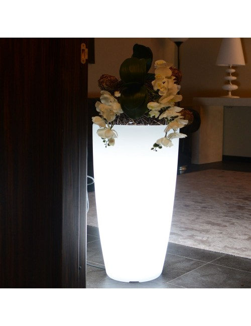 Vaso Stilo Round Bright Led Multicolor - Monacis