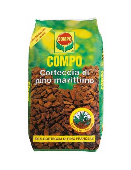 Corteccia di Pino Marittimo Francese - Mis. 25/40 - conf. da 60 Lt Compo