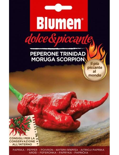 Peperone Trinidad Moruga Scorpion - Blumen