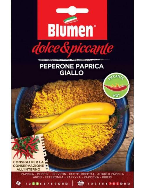Peperone Paprica Giallo - Blumen