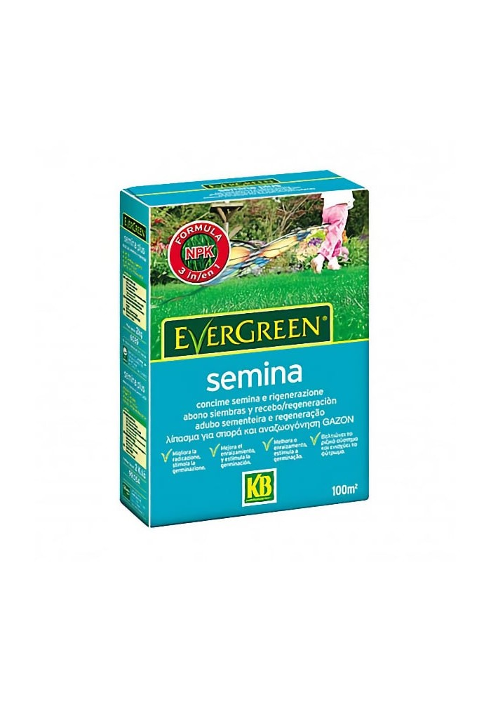 Concime Evergreen Semina  16-25-12+23 SO3 da Kg 2 - KB